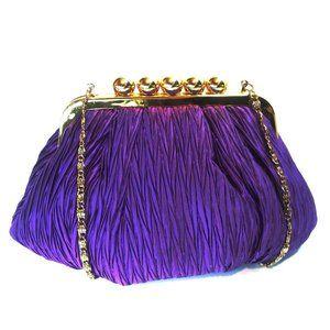 Vintage Carla Marchi Purple & Gold Shoulder Bag